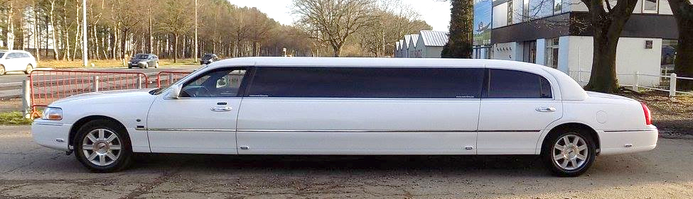 witte limousine Lincoln